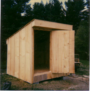 Shed Constructed with Chain Saw Mill